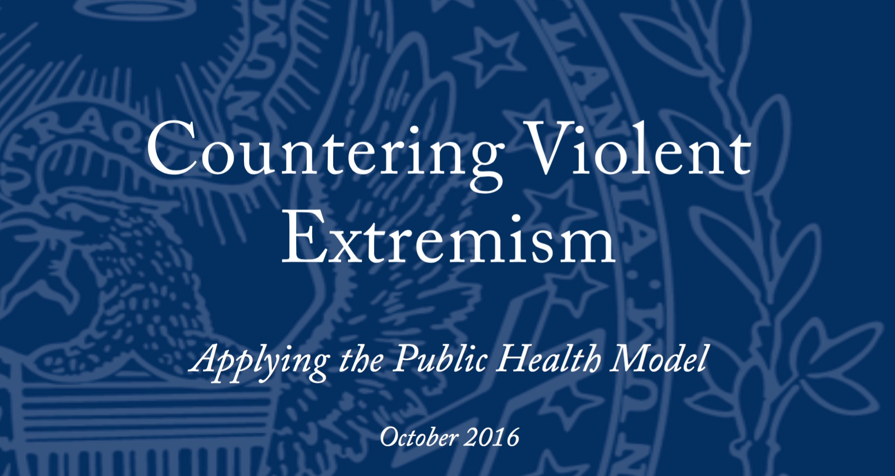 NSCITF Report on Countering Violent Extremism